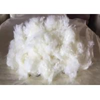 Cheap Flame Retardant Recycled Polyester Staple Fiber Ivory White Color for sale