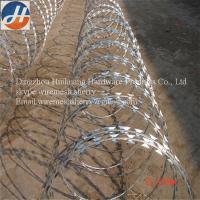 Cheap Standard specification for electric galvanized razor barbed wire for sale