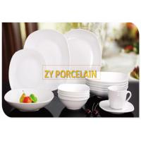 Buy cheap Fine Porcelain White Ceramic Dinnerware Sets , Lightweight Dinnerware Collection from wholesalers