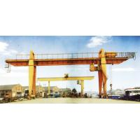Cheap 28.5m Span 200 / 32t Double Girder Gantry Electric Overhead Crane with Hook wholesale