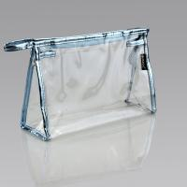 clear pvc plastic bag toiletry travel vinyl zipper