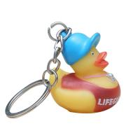 Cheap Funny Mini Rubber Ducks Shaped Toy Soft PVC Rubber Duck Keychain 5 Inch for sale