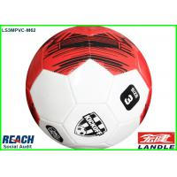 Buy cheap Bigger Size 3 Leather Soccer Ball With 19cm In Diameter By Stitched from Wholesalers