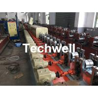 Cheap Aluminum , Carbon Steel Pu Foam Rolling Shutter Door Making Machine With Servo Tracking Flying-Saw Cutting for sale