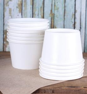 China PE Lined Offset Printing 16oz White Disposable Bowls on sale