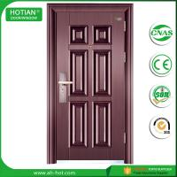 Cheap Hot steel construction building material latest main house steel gate design interior solid wood door design wholesale