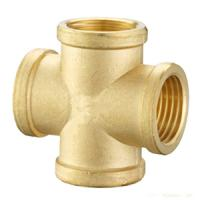 Cheap Brass Cross connector/ Brass Cross hose fittings/Pneumatic connector/OEM precision brass hose screw fitting for sale