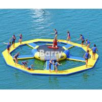 Cheap Bouncer Water Park Inflatable Water Toys / Inflatable Trampoline for sale
