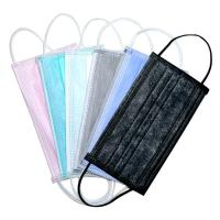 Cheap Elastic Ear Loop 3 Ply Disposable Face Mask Fashionable No Irritation for sale