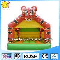 Cheap PVC Tiger Inflatable Combo Bouncers Rectangle Bounce House Games for sale