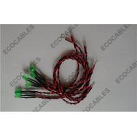 Buy cheap 5mm Green Led Twist Wires Black/Red UL1007 26AWG Elecro cableROHS Compliant from Wholesalers