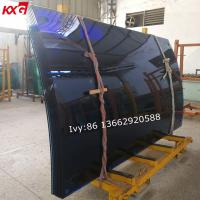 China 12mm Ford blue curved tempered glass, tinted safety bent tempered glass, toughened curved glass manufacturer on sale