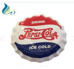 Cheap Custom Enamel Advertising Signs Enamel Beer Bottle Cap Sign For Decorative for sale
