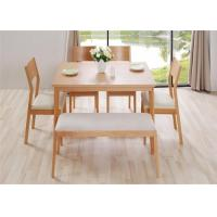 Quality Home Long Oak Kitchen Bench Seating , Natural Cherry Wood Dining Bench High Grade wholesale