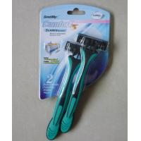 China triple blade disposable razor with lubricating strip on sale