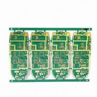 Cheap 6-layer HDI PCB with Mobile Phone Motherboard, Immersion Gold Surface and Green Solder Mask for sale