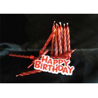 Quality 12 Pieces Passionate Red Golden Birthday Candles With Plastic Card wholesale