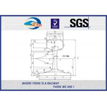 Buy cheap High Tensile EN Standard EN13674-1-2011 Railway Steel Rail UIC54 54E1 Plain Surface from wholesalers
