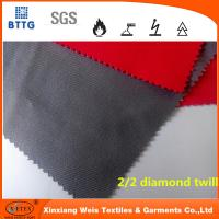 Cheap In stock YSETEX EN11612 certificated 360gsm flame retardant fabric in grey and red for sale