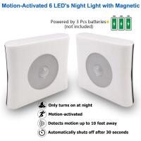 Cheap ABS Plastic LED Sensor Night Light Motion Activated High Performance For Bedroom Toilet for sale