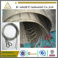 Cheap 304 Hand-woven Stainless Steel Wire Rope Mesh for stair frames for sale