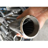 Cheap Bleved Welding Ring V Wire Wrap Screen Pipe / Water Well Screen For Sand Control for sale