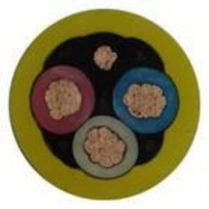 China 0.6 / 1KV Pure Copper Wire Yellow Sheath HOFR Rubber Composite Material on sale