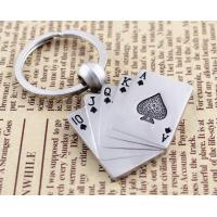 Cheap custom play card wholesale promotional bottle opener logo keychain for sale