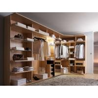 Cheap Modern style veneer door designs L-shaped wood clothes closet for sale
