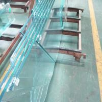 Cheap Custom 12mm starfire Ultra Clear Tempered Safety glass price m2 for Commercial Glass Railing systems for sale