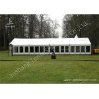 Cheap White Fabric Top Outdoor Event Tent , Aluminum Profile Hard Glass Wall Tent wholesale