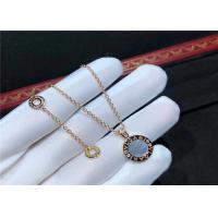 Cheap 18K Gold Diamond Necklace Simple Design For Girlfriend / Wife for sale