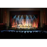 Cheap HD P3.91 Indoor LED Stage Curtain Screen , Full Color Large LED Video Wall for sale