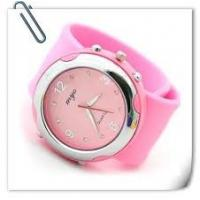Cheap OEM Eco - friendly digital 100% silicone slap on wristband watches for promotional gift  for sale