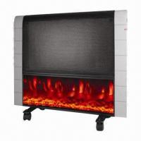 Cheap Flamed Convector Heater, Flame Effect in the Front, Wall-mounted and Freestanding Style for sale
