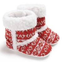 Cheap New fashion non-woven knitted crochet winter warm Walking shoes baby booties knit for sale