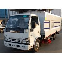 China ISUZU 115HP LHD Customized Street Sweeper Vacuum Truck With High Pressure Water Spray on sale