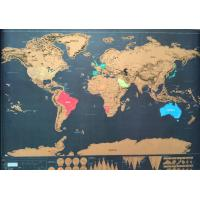 China Discovery Map World New Personalized Scratch off World Map with Stickers, Traveler Gift on sale