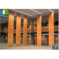 Cheap Fabric Wooden Exhibition Partition Wall , Folding Operable Partition Walls wholesale