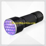 Cheap Black/Blue Color Aluminum 395NM Blacklight 21 LED Ultraviolet Flashlight Lamp Torch wholesale