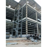 China 40HQ Loading Q235B Multi Floor Warehouse Steel Structure on sale