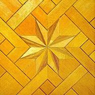 Cheap Canadian Maple wood parquet flooring Baroque style for sale
