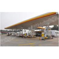 Buy cheap Prefabricated Steel Roof Trusses Shed Building Space Frame Petrol Station Design from wholesalers