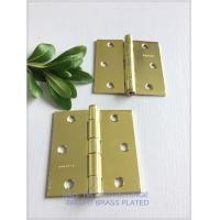 Cheap Yellow Color Ball Tip Hinges , Heavy Duty Flush Mount Hinges Highly Polished for sale