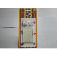 Cheap Birthday Cake Flameless Taper Candles , Paraffin Silver Glitter Candles for sale