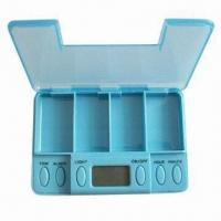 Cheap Vibrating Pillbox with 5 Alarm Settings for sale