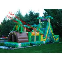 Cheap giant inflatable obstacle course tropical obstacle course to wet tropical obstacle course for sale