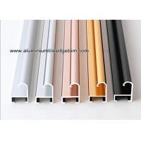 China Metal Modern Type Aluminium Picture Frame Mouldings With Narrow Curved Shape on sale