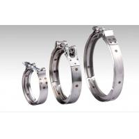 China Heavy Duty Silver V Band Clamp 316 Stainless Steel ISO9001 Certification on sale