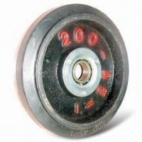 Cheap Caster Wheel, Cast-iron Rubber Wheel with Ball Bearing, Provides Excellent Shock Loading for sale